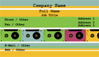 Retro Cassettes Business Card Template